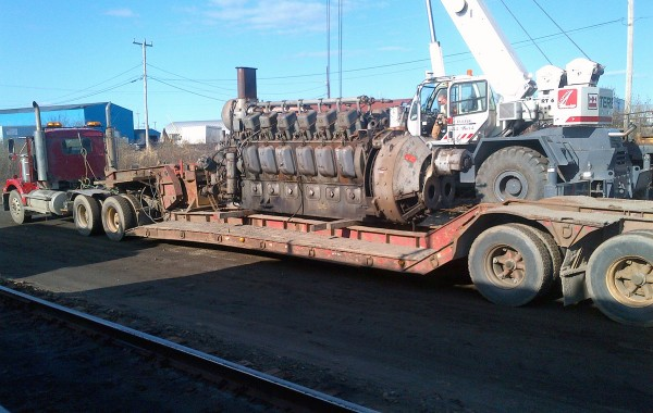 Locomotive dismantling
