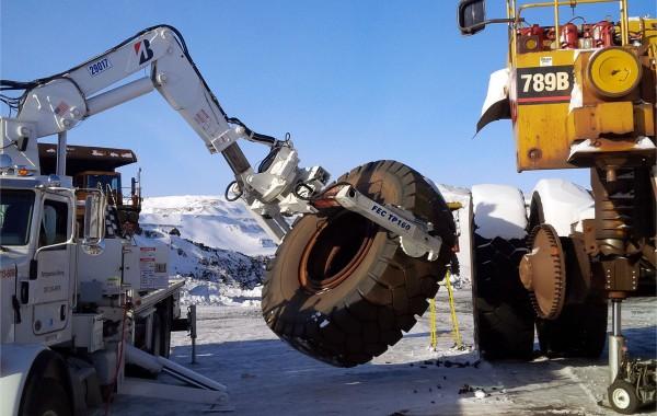Démantèlement de camion minier